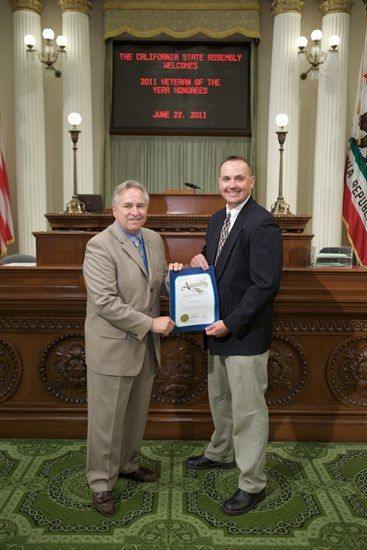 Shawn Bainbridge honored as one of the three 2011 Veterans of the Year